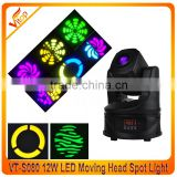 2016 New stage equipment 15w mini LED moving head spot light wholesale