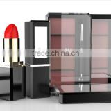 Square metal Lipstick tubes with mirror, plastic compact case