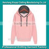 wholesale plain hoodie with printing hot sale in China from professional knitting factory in Nanchang