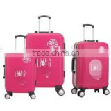 popular luggage set fashion luggage trolley set carry on luggage business and travel suitcase set for ladies and girls