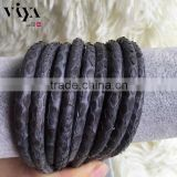 Viya Latest 100% Genuine Stingray/Python Leather for Custom Design Leather Jewelry with Wholesale Prices