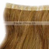 Brazilian virgin hair wholesale suppliers skin weft PU tape hair seamless hair extenison