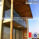 hot sale safety glass outdoor balcony fence