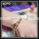 Gold Bracelets For Women Fashion Jewelry Wholesale 18K Gold Plated Zinc Alloy Women Bracelet