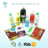 Perfect for drinks product, adhesive juice bottle labels stickers, adhesive customized labels, waterproof