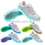 Wholesale Men Women 7 Color LED Luminous Sneaker Light Up Lace Unisex Adults Running Led Shoes