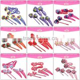 hair accessories custom ecofriendly cheap resin butterfly shape hair pin nylon elastic band korean girls kid hair accessory set