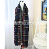 New trends plaid blanket shawl lady winter wholesale fashion scarf