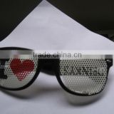 Small glasses pinhole glasses/cheap but high quality sunglass/party glasses