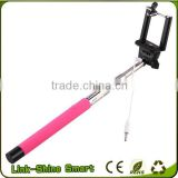 selfie stick cable Handheld phone/camera selfie stick z07-5 plus wireless monopod with built-in bluetooth