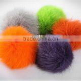 9-10cm real raccoon fur pom poms /ball key chain for winter hats