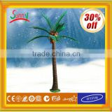 Alibaba express Outdoor Christmas Decorative solar lighted palm trees with CE ROHS GS SAA UL