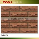 Brown ceramic brick small tile for villa external wall cladding natural design clinker tile hot sale in russia cheap price
