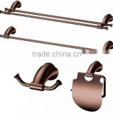 Antique Bronze ORB metal Bathroom Accessory Towel Bar Rack Hook toilet Paper Holder 4pc Set