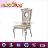 Modern Leather Restaurant Chairs/Stainless Steel Legs Canteen Dining Chairs