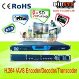H.264 and AVS encoder decoder and video transcoder