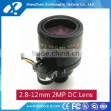 China Factory varifocal auto iris 2.8-12mm cctv lens m12 mount IP camera lens for security cameras