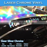 CARLIKE 1.52x20M Shiny Laser Chrome Holographic Rainbow Vinyl For Car Whole Body Wrapping