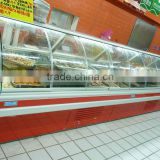 Service deli case Meat refrigerated display cabinet Case Of Supermarket