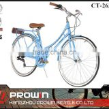 26 inch blue women city bike/ city bicicleta/ladies bicycles bikes for sale (PW-CT26303)