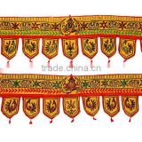 Latest Home Decor Fabulous Product Indian Cotton Door Window Toppers Valance Toran Wall Hanging