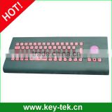 Russian layout industrial Button Switch military keyboard with optical trackball
