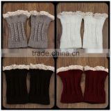 Wholesale hot girls leg warmer knit crochet high legging knee warmer