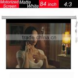 Wall Mount 84'' Projection Screen 4:3 Portable Front PVC Projector Screen