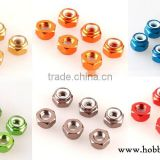 M2 / M3 / M5 Aluminium Colored Nylon Insert Self Lock Nut for Drone/UAV