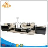 Contracted Europe type leather sofa combination 123 American country real wood skin art sofa furniture
