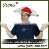 Hat Umbrella Head Umbrella for Adults and Kids