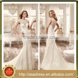 VDN16 Luxury Floor Length Sleeveless Bridal Gown Full Beaded Crystal Wedding Dress with Illusion Neckline and See Through Back