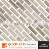 Dongde Quick-Easy wallpaper, classic mosaic vinyl removable tile sticker for bathroom living room backsplash wall