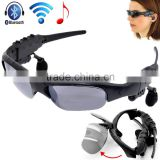 Wireless Motorcycle Glasses Bluetooth MP3 Sun Glasses Headset For Cell mobille Phone fashionable bluetooth Sunglasses