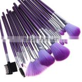 hot sale 16 pcs purple makeup eyeshadow brush goat hair make up brush professional cosmetic brush sets kits
