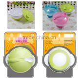 100% Food Grade Heat-Resistance Suction Silicone Feeding Baby Bowl With Spoon Baby Training Bowl