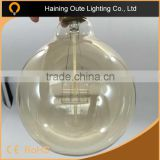 Beautiful lights effect G125 4rings Golden glass edison lamp