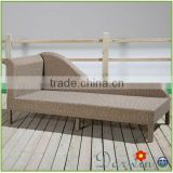 Modern NEW design wicker rattan sun lounger chaise lounge white outdoor furniture