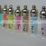 Rice Glass Vials Pendant Perfume Bottle Pendant Essential oil Pendant for Necklace Jewelry