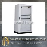 China manufacturer electronic cabinet fabrication, customized floor standing white powder coated cabinet