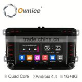 Ownice C180 Android 4.4 up to android 5.1 car navigation GPS for volkswagen golf polo built in Bluetooth wifi