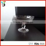 Hand make high quality colored glass champagne coupe with short stem