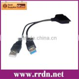 USB 3.0 to SATA HDD Adapter Cable for 2.5 inch HDD Hard Disk Drive with usb 2.0 power cable