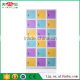 TJG-MC8533 Taiwan High Quality 18 Door Steel Locker Cabinet Storage Clothes Files Books Sports