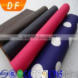 latest pvc leather stock lot/black synthetic leather fabric, pvc leather for bags