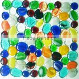 decorative glass nuggets,glass pebble mosaic