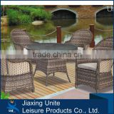 UNT-R544 Bamboo design garden furniture 5pcs high back seat chair set outdoor furniture