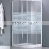 High Quality 4mm Tempered Printing Glass Shower Enclosure With White Aluminum Alloy Frame K-081BW-1