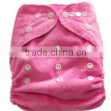 plain light pink color pocket minky baby cloth diaper-HAILAN-S03 for your lovely baby