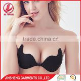 2016 new design fancy bra panty set fancy palm design adhesive invisible bra